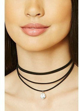 Faux Gem Layered Choker