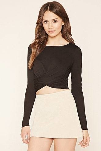 Contemporary Ruched Crop Top