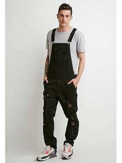 Clean Wash Distressed Overalls