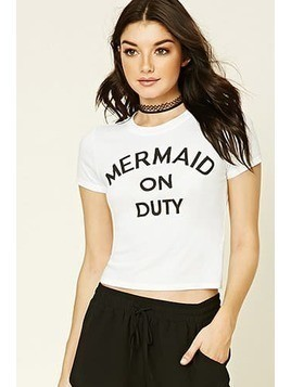 Mermaid On Duty Graphic Tee