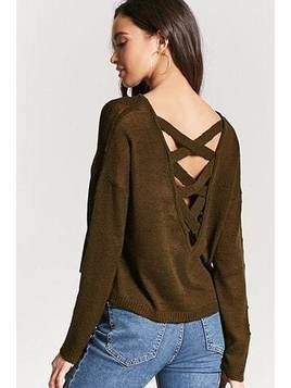 Slub Knit Crisscross-Back Top