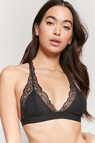 Sheer Lace Y-Strap Bralette