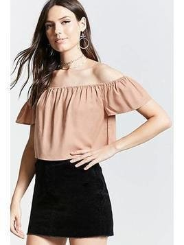 Contemporary Flowy Crop Top