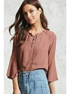 Boxy Lace-Up Top