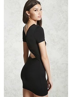 Twisted Cutout-Back Dress