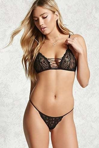 Scalloped Lace G-String Thong