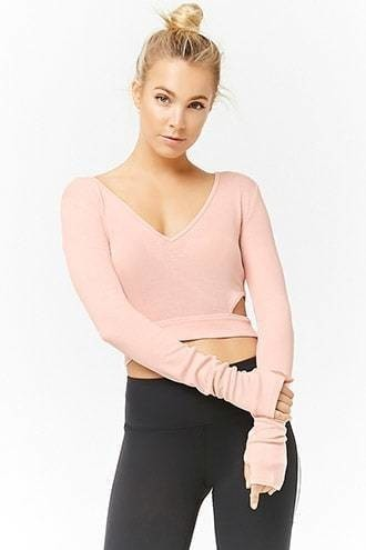 Active Ribbed Cutout Top