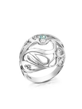 Sterling Silver Mari Splash Boule Ring