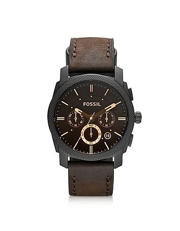 Machine Mid-Size Chronograph Brown Leather Men's Watch