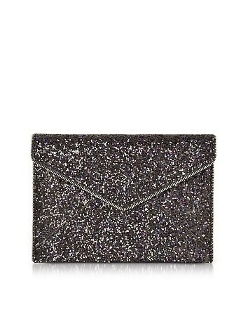 Glitter Leo Envelope Clutch