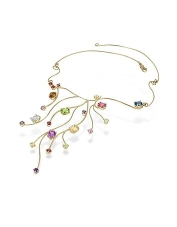 18k Yellow Gold Multi-Gemstones Necklace