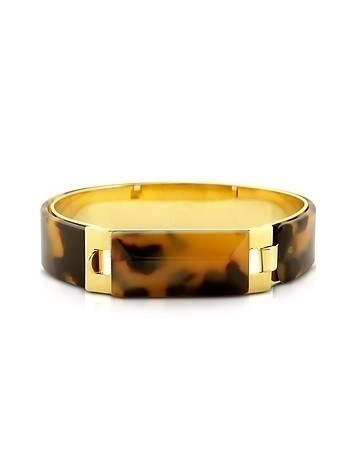 Tortoise Resin and Golden Brass Bracelet