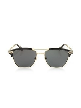 GG0241S 002  Square-frame metal sunglasses
