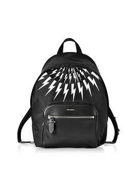 Black and White Nylon Classic Backpack