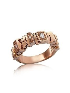 Sole - Diamond 18K Rose Gold Band Ring