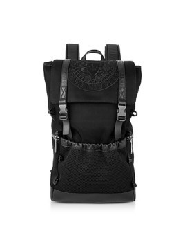 Black Nylon Men's Climb Backpack