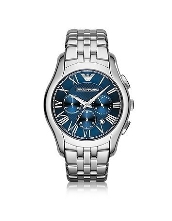New Valente Silver Tone Stainless Steel Men's Watch