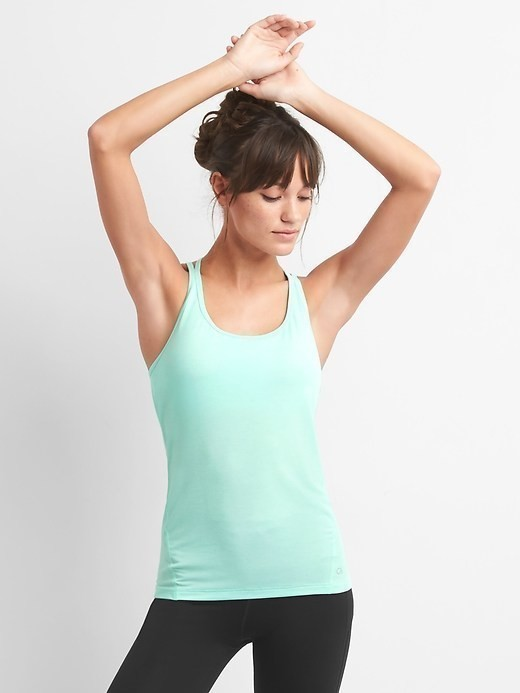 Gap Breathe Strappy Shelf Tank - Shore blue 412