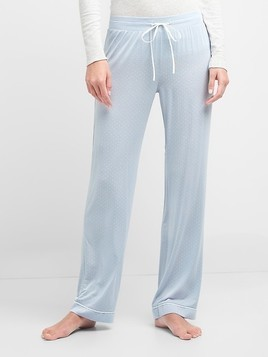 Gap Pure Body Lightweight Sleep Pants - Ice blue dots