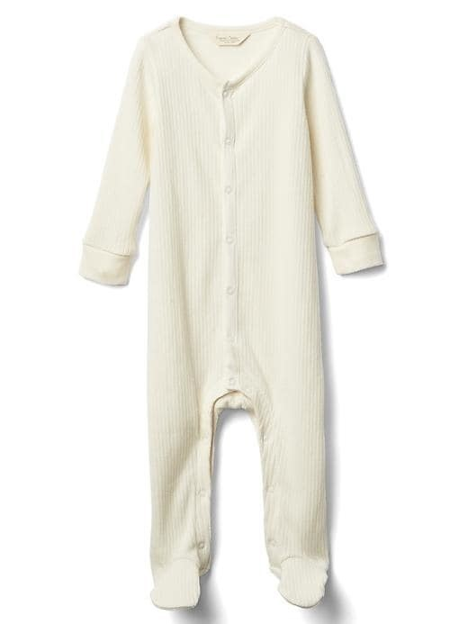 Gap Organic Rib Footed One Piece - Ivory frost