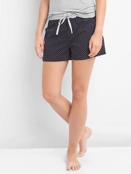 Gap Poplin Graphic Sleep Shorts - Dark indigo dots