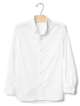Gap Non Iron Solid Poplin Shirt - Off white