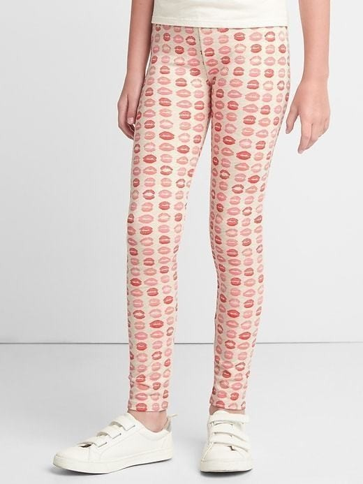 Gap Print Soft Terry Leggings - Oatmeal heather