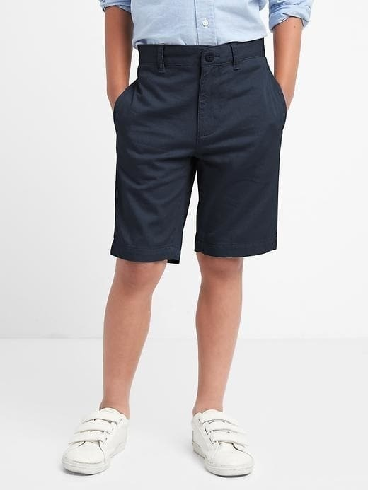 Gap Uniform Action Stretch Flat Front Shorts - True navy