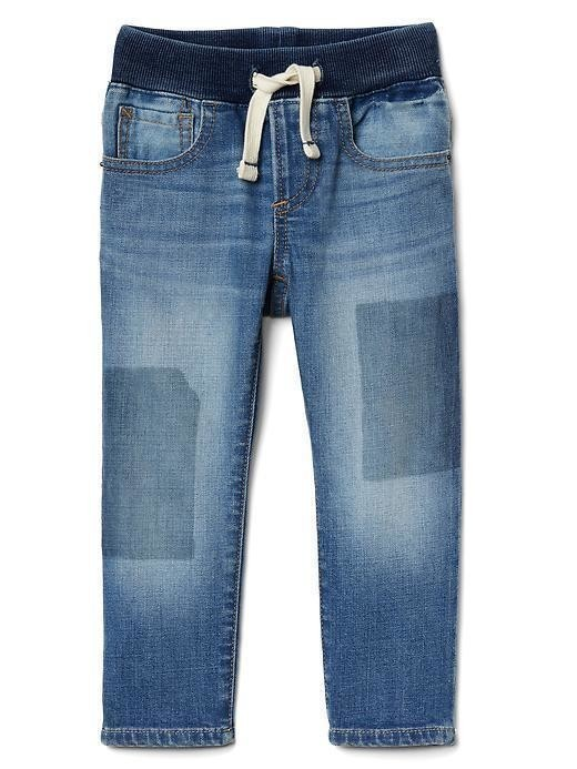 Gap Stretch Pull On Slim Jeans - Light wash