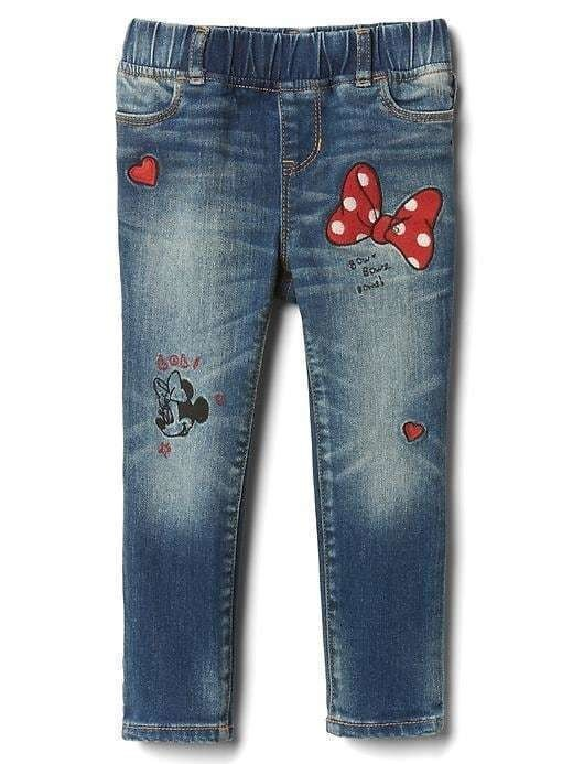 Babygap &#124 Disney Baby Minnie Mouse Embroidered High Stretch Jeggings - Minnie mouse