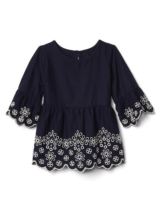 Gap Eyelet Bell Tunic - Navy081