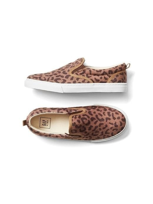 Gap Leopard Slip On Sneakers - Leopard