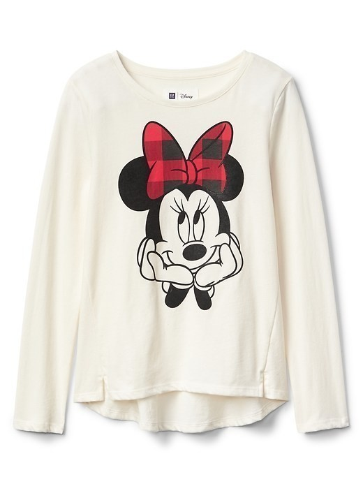Gapkids &#124 Disney Mickey Mouse And Minnie Mouse Hi Lo Tee - Ivory frost