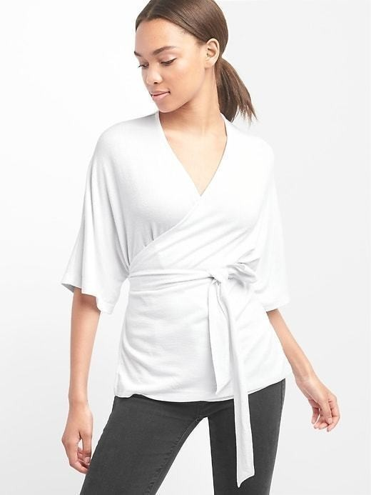 Gap Softspun Wrap Top - White