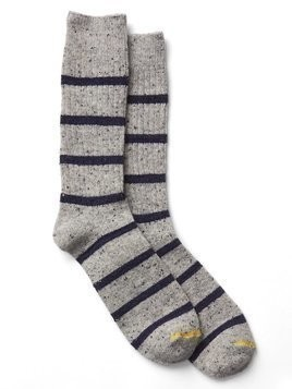 Gap Donegal Stripe Boot Socks - Grey heather