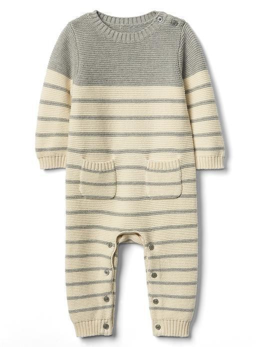Gap Stripe Garter One Piece - H. grey b08 7062