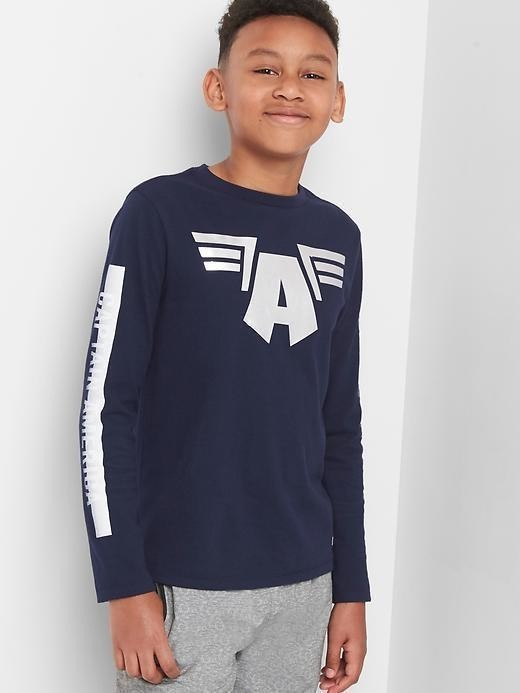 Gapfit &#124 Marvel Avengers Long Sleeve Tee - True indigo