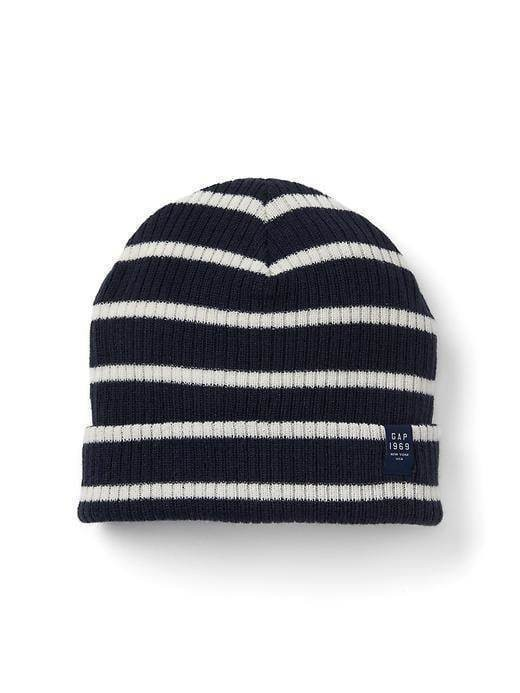 Gap Ribbed Beanie - Breton stripe blue