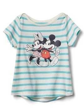Babygap &#124 Disney Baby Mickey Mouse And Minnie Mouse Hi Lo Tee - Mickey and minnie