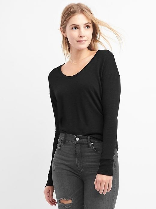 Gap Softspun Dolman Tunic - True black