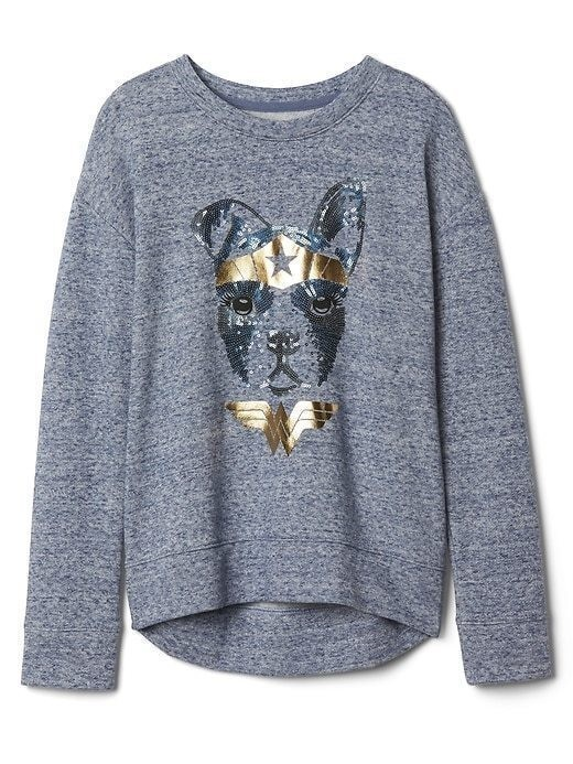 Gapkids &#124 Wonder Womanâ Pullover - Light blue marl
