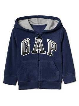 Gap Pro Fleece Gradient Logo Zip Hoodie - Elysian blue
