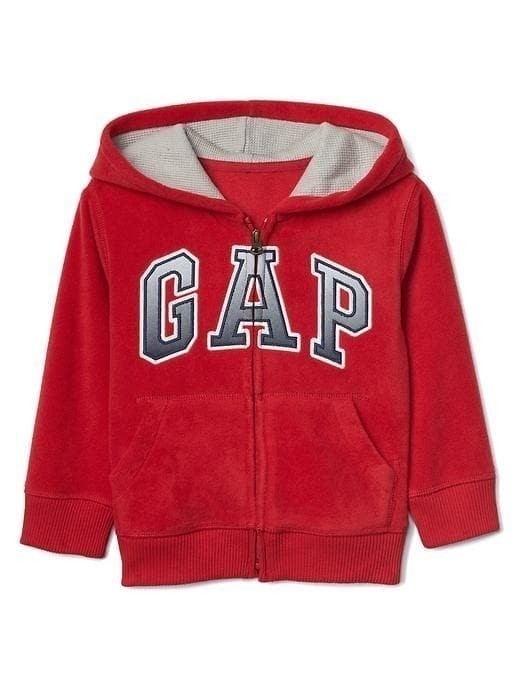 Gap Pro Fleece Gradient Logo Zip Hoodie - Red apple