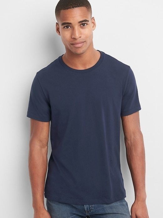 Gap Essential Crewneck T Shirt - True indigo