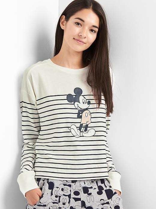 Gap &#124 Disney Mickey Stripe Pullover - Indigo stripe