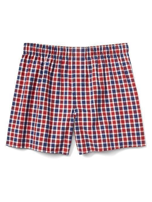 Gap Plaid Boxer Briefs - Red blue plaid