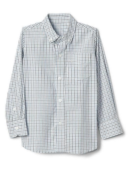 Gap Check Button Down Shirt - Blue plaid