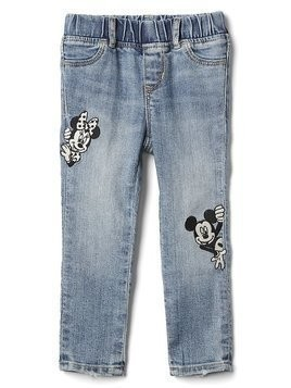 Babygap &#124 Disney Baby Mickey Mouse And Minnie Mouse High Stretch Jeggings - Indigo