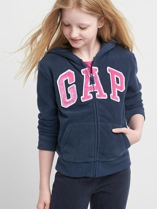 Gap Pro Fleece Logo Starry Hoodie - Blue galaxy
