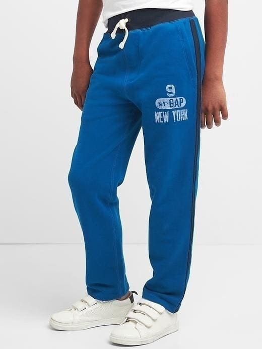 Gap Logo Varsity Sweats - Blue edge